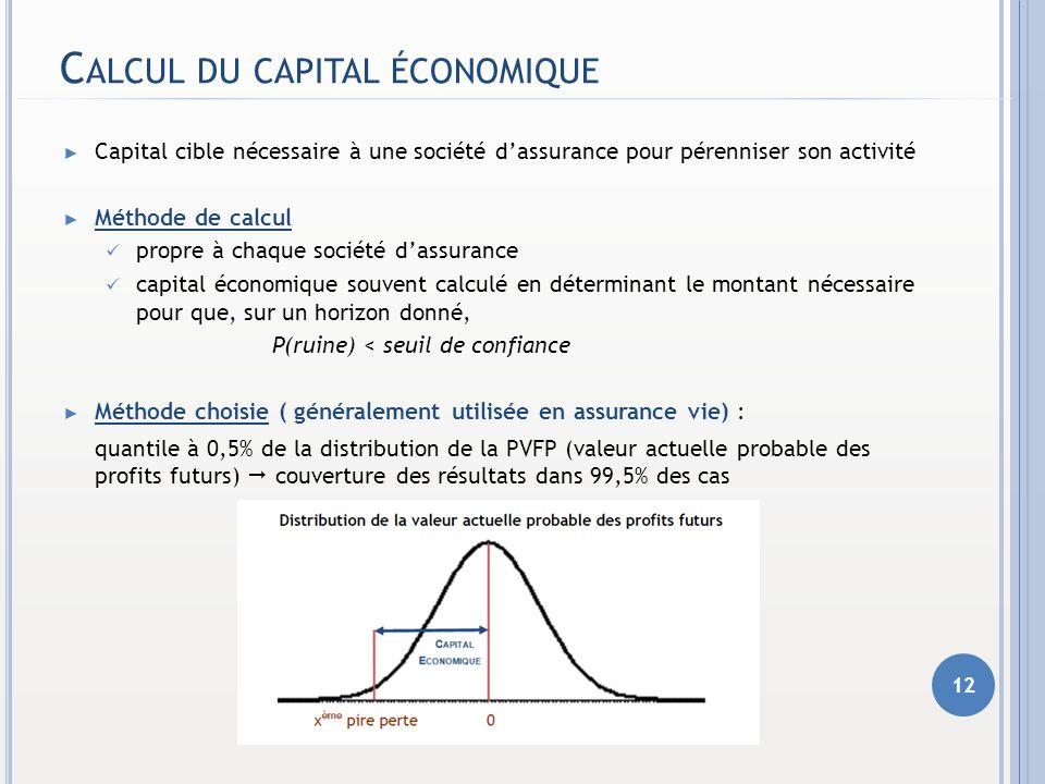 Calcul du capital économique
