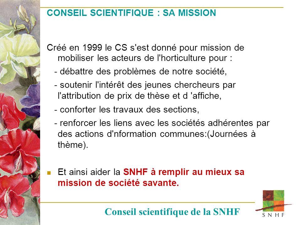 CONSEIL SCIENTIFIQUE : SA MISSION