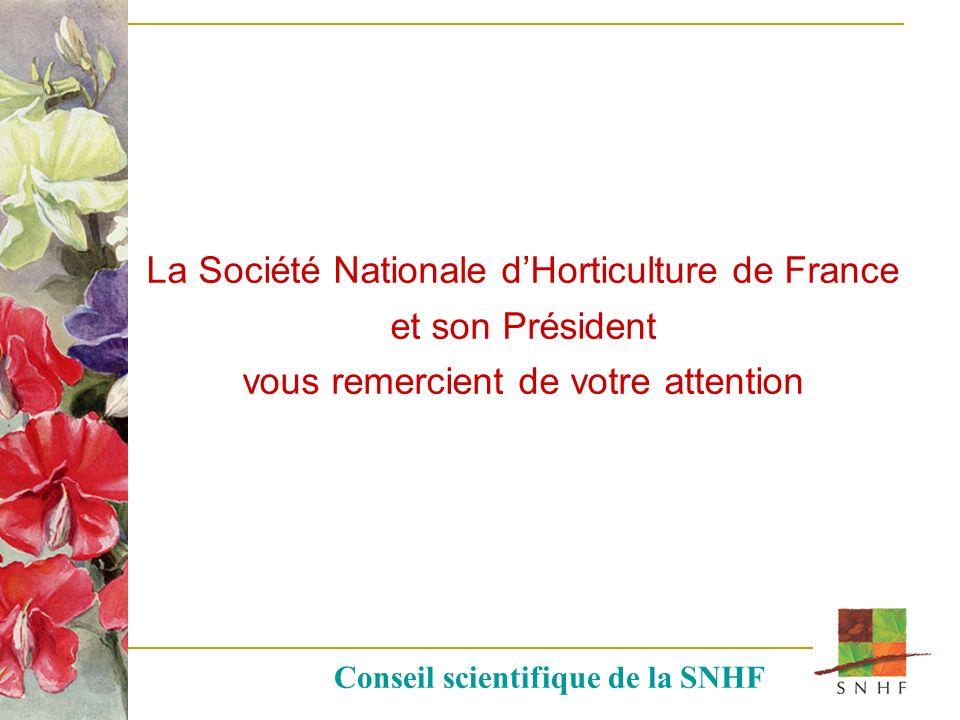La Société Nationale d'Horticulture de France et son Président