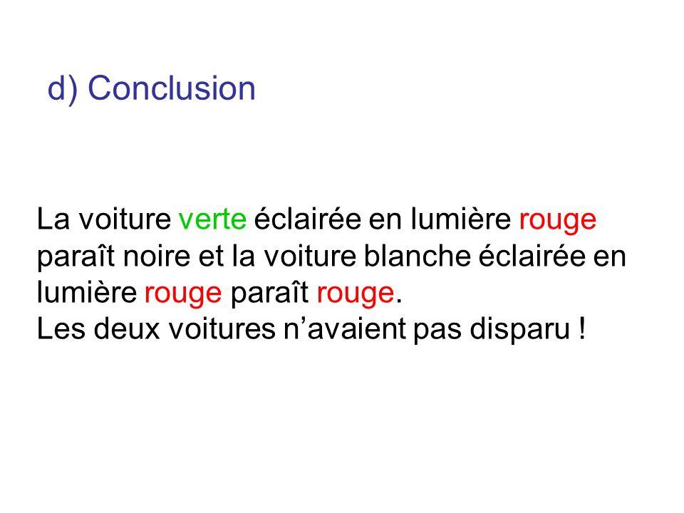 d) Conclusion