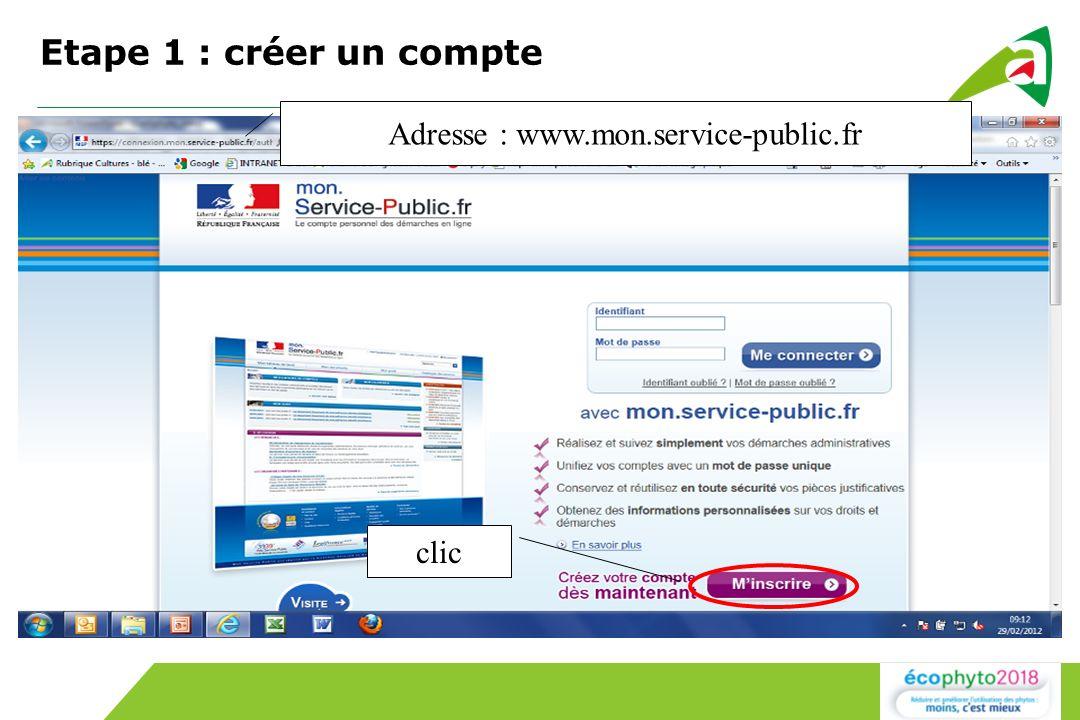 Adresse : www.mon.service-public.fr