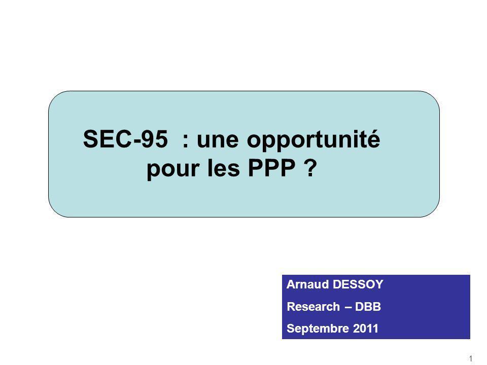 SEC-95 : une opportunité pour les PPP