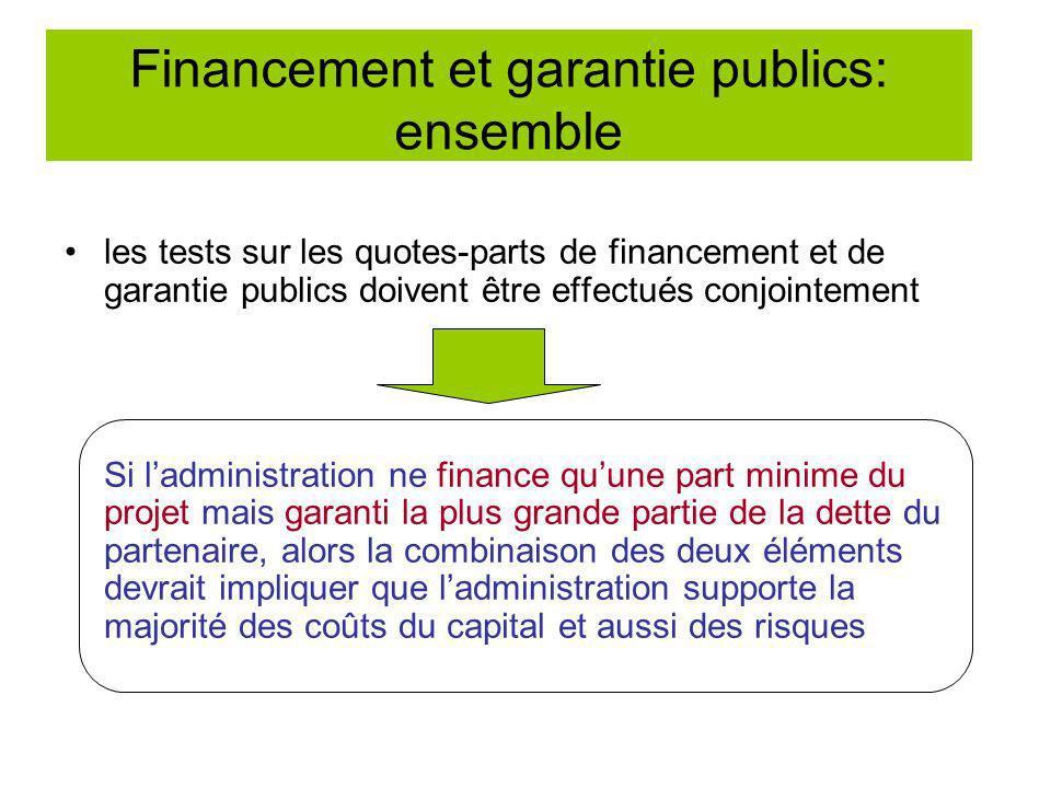 Financement et garantie publics: ensemble