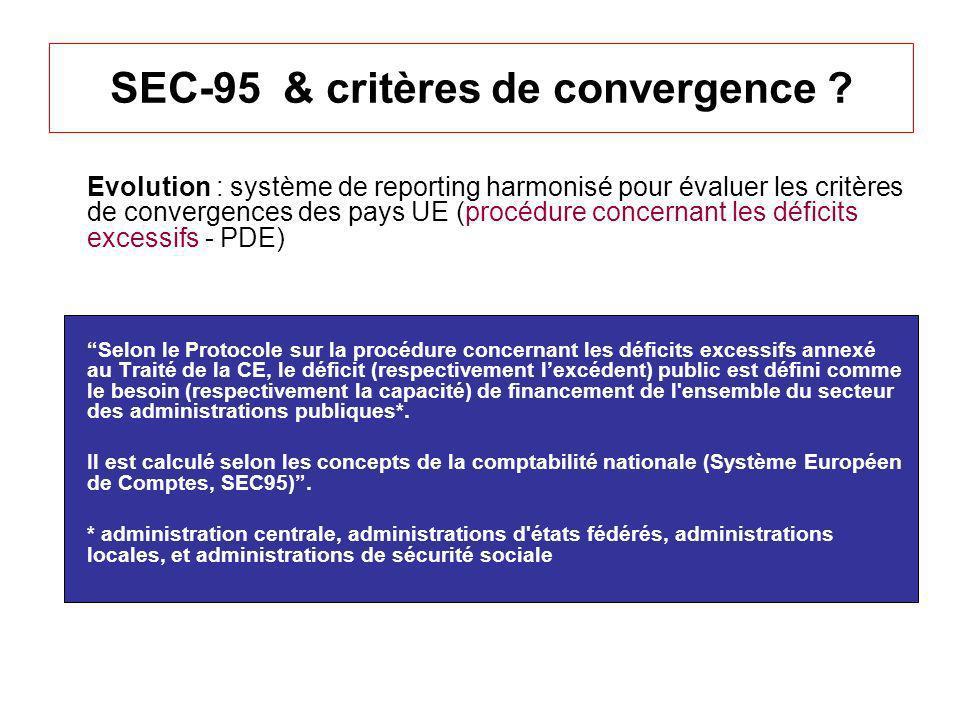SEC-95 & critères de convergence