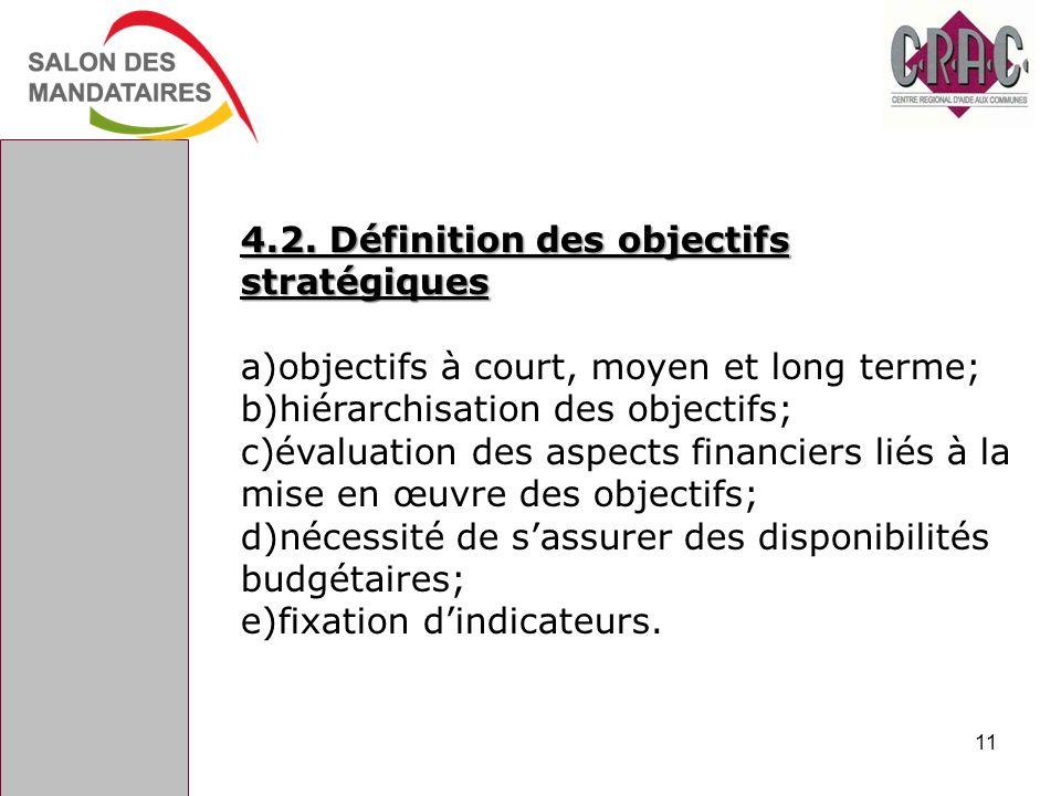 4.2. Définition des objectifs stratégiques