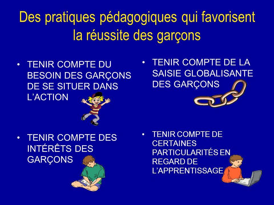 Des pratiques pédagogiques qui favorisent la réussite des garçons