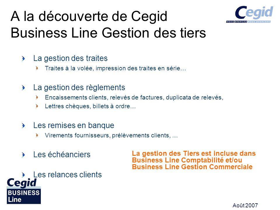 A la découverte de Cegid Business Line Gestion des tiers