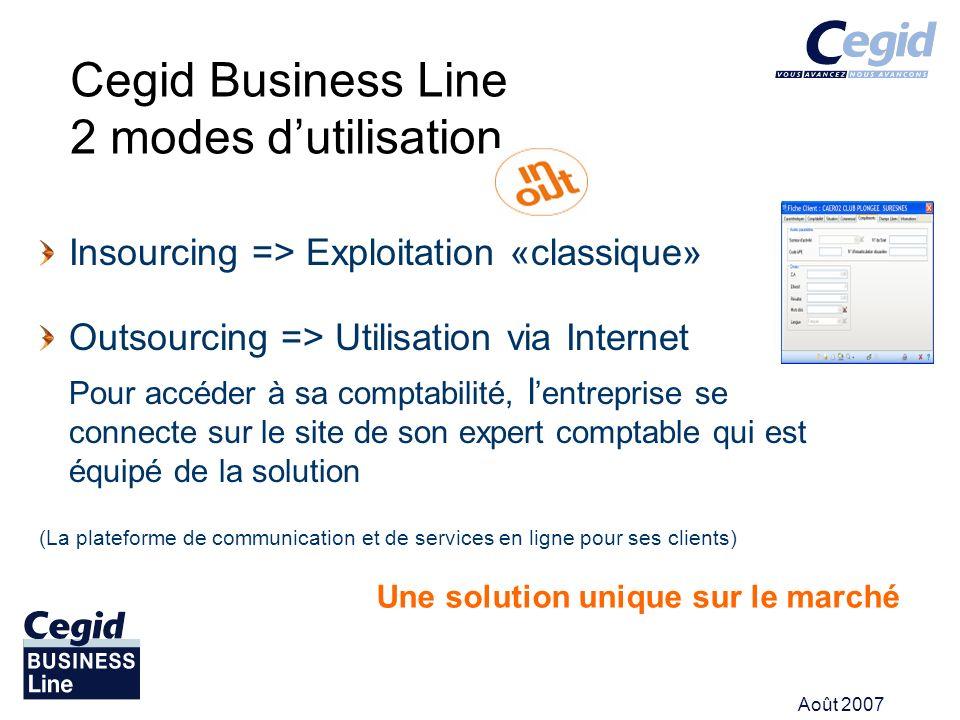 Cegid Business Line 2 modes d'utilisation