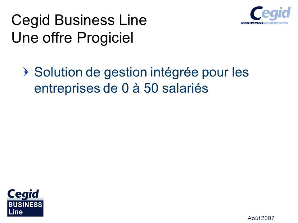 Cegid Business Line Une offre Progiciel