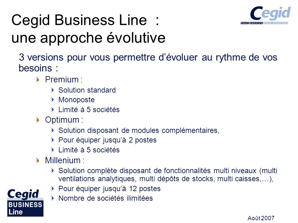 Cegid Business Line : une approche évolutive