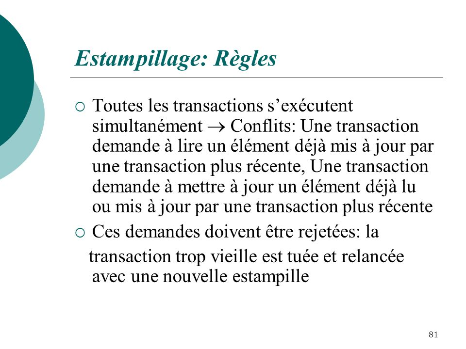 Estampillage: Règles