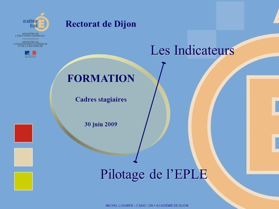 Les Indicateurs Pilotage de l'EPLE FORMATION Rectorat de Dijon