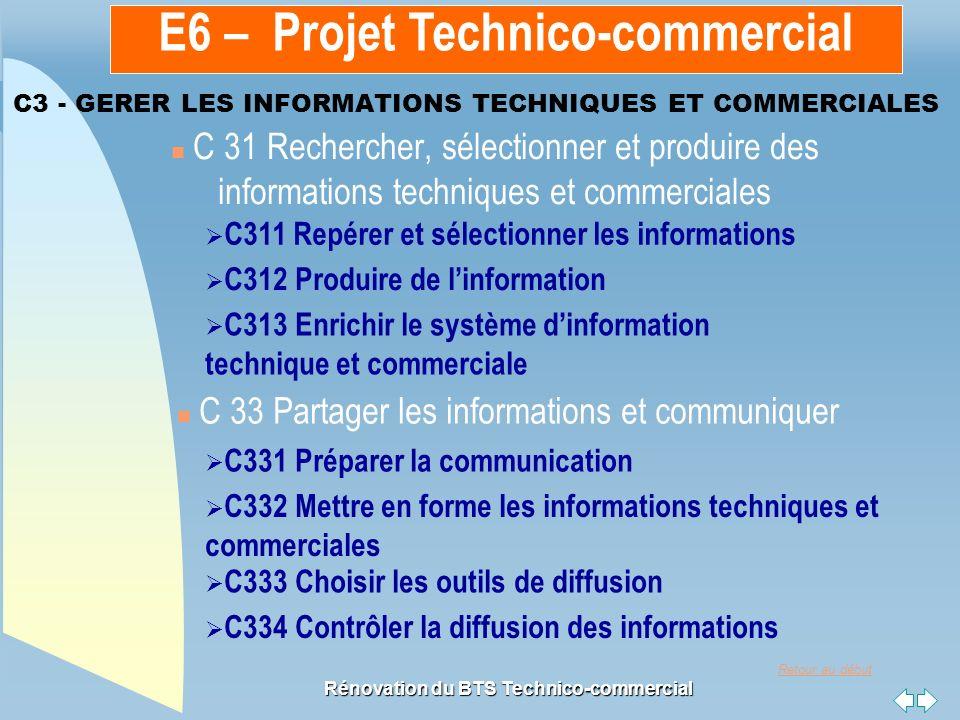 C3 - GERER LES INFORMATIONS TECHNIQUES ET COMMERCIALES