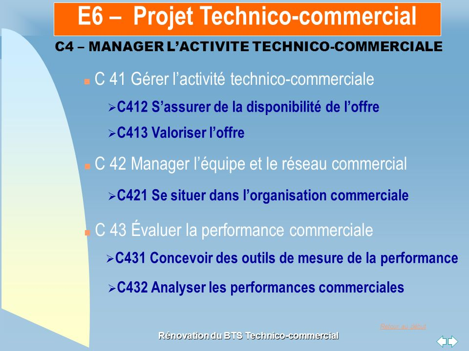 C4 – MANAGER L'ACTIVITE TECHNICO-COMMERCIALE