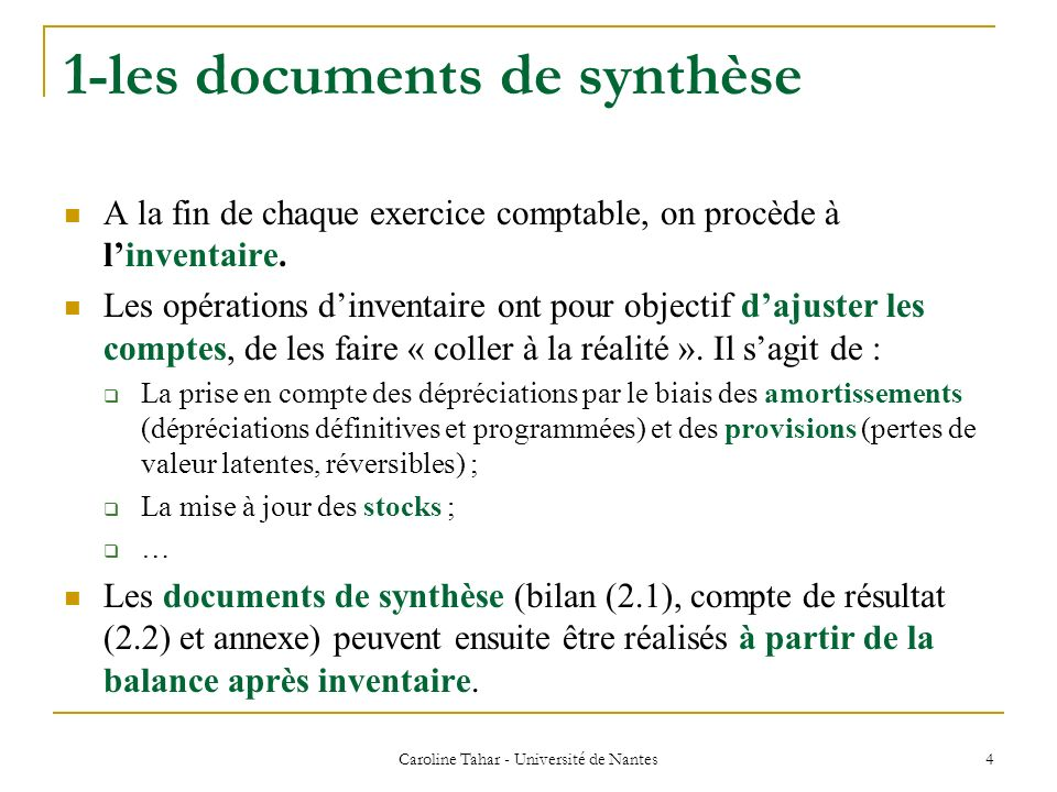 1-les documents de synthèse