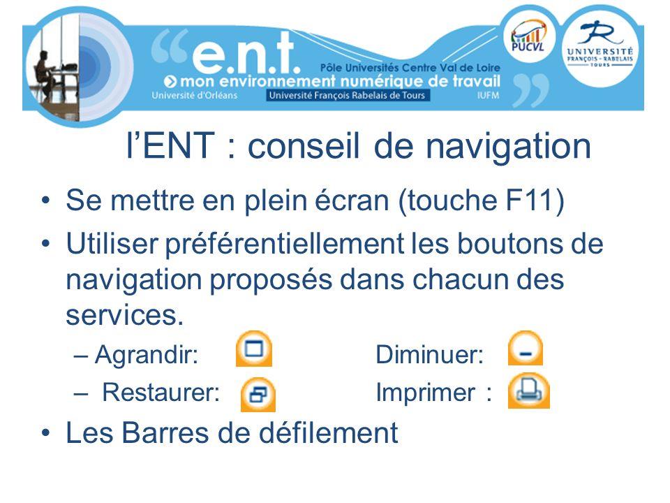 l'ENT : conseil de navigation