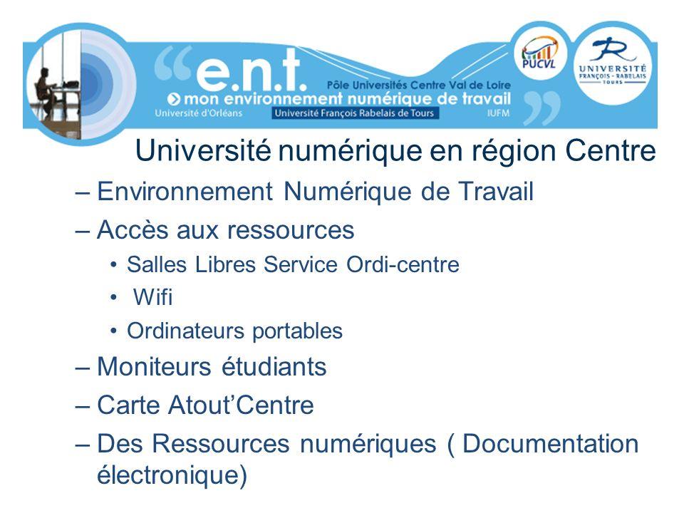 Université numérique en région Centre