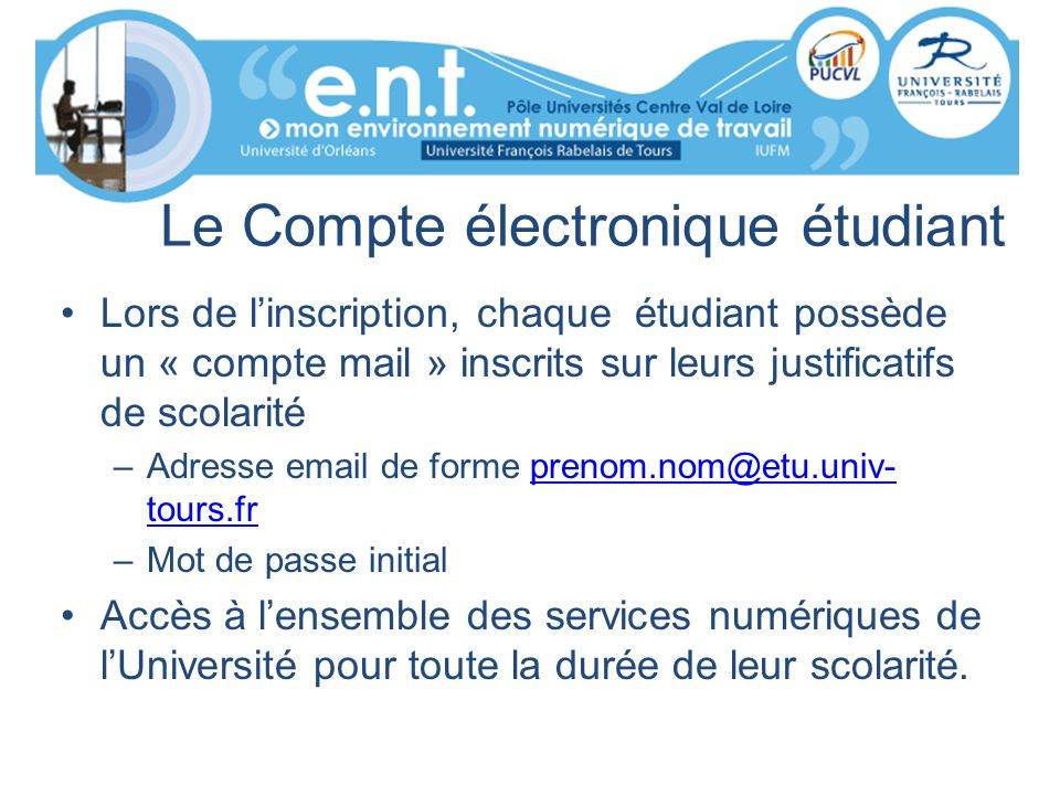 Le Compte électronique étudiant