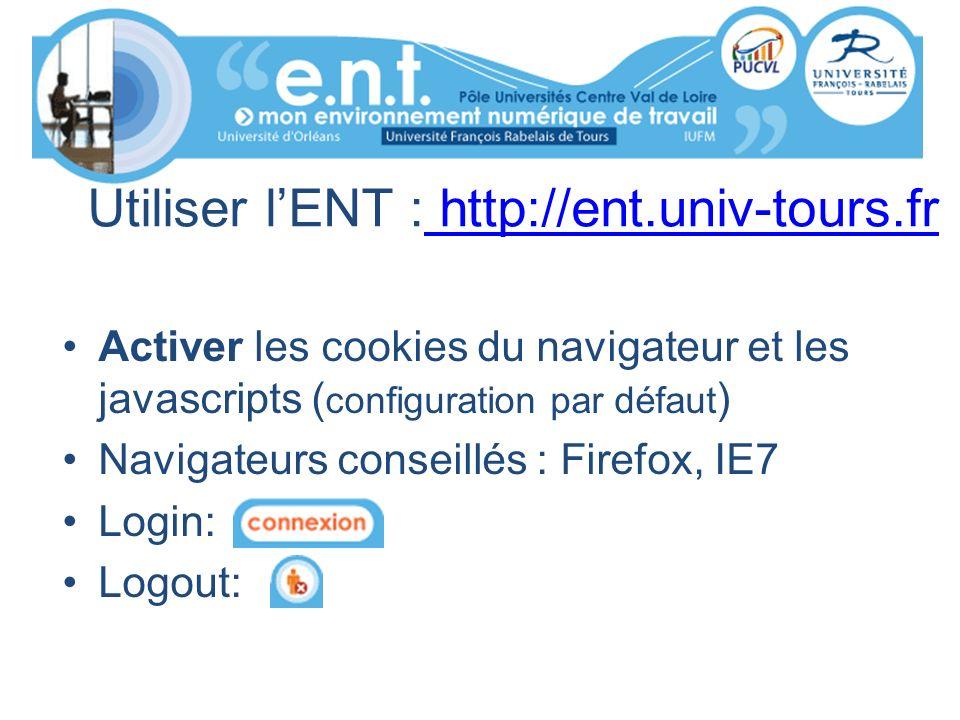 Utiliser l'ENT : http://ent.univ-tours.fr