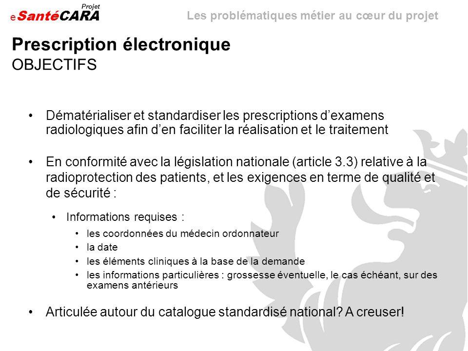 Prescription électronique OBJECTIFS