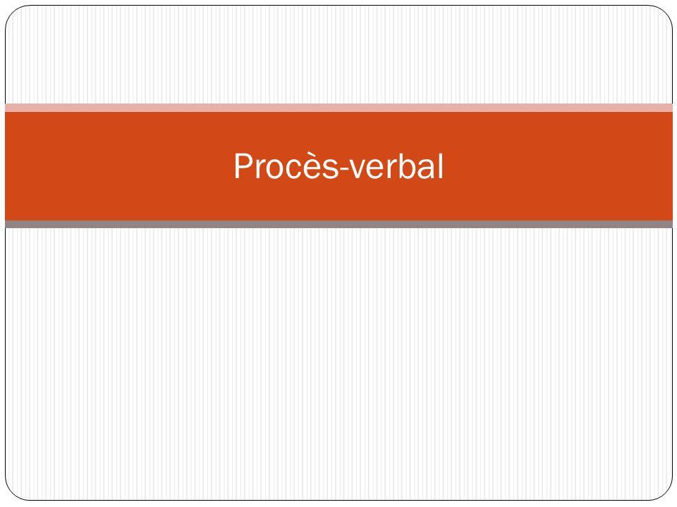 Procès-verbal