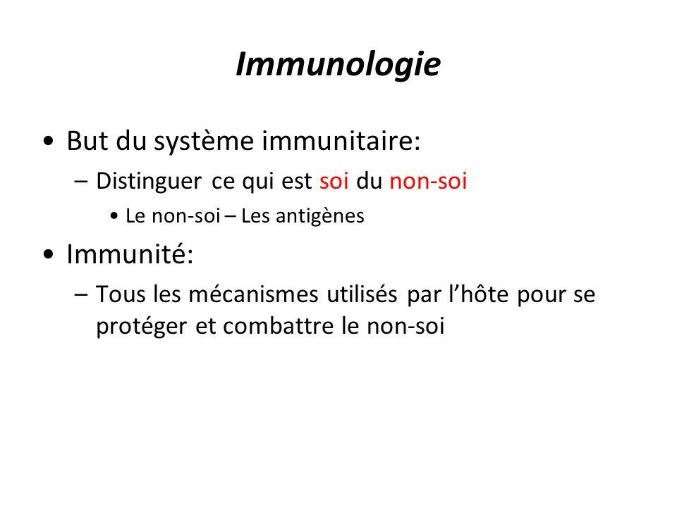 Immunologie But du système immunitaire: Immunité: