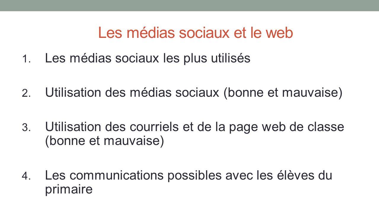 Les médias sociaux et le web