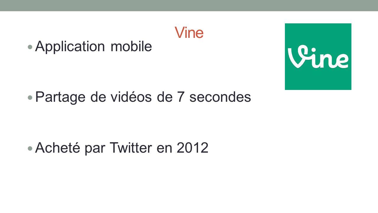 Vine Application mobile Partage de vidéos de 7 secondes