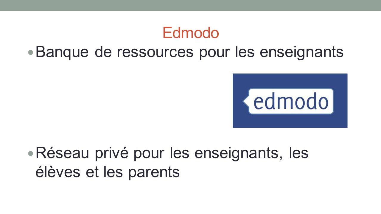Edmodo Banque de ressources pour les enseignants.