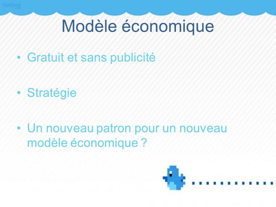 Modèle économique Gratuit et sans publicité Stratégie