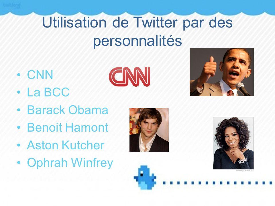 Utilisation de Twitter par des personnalités