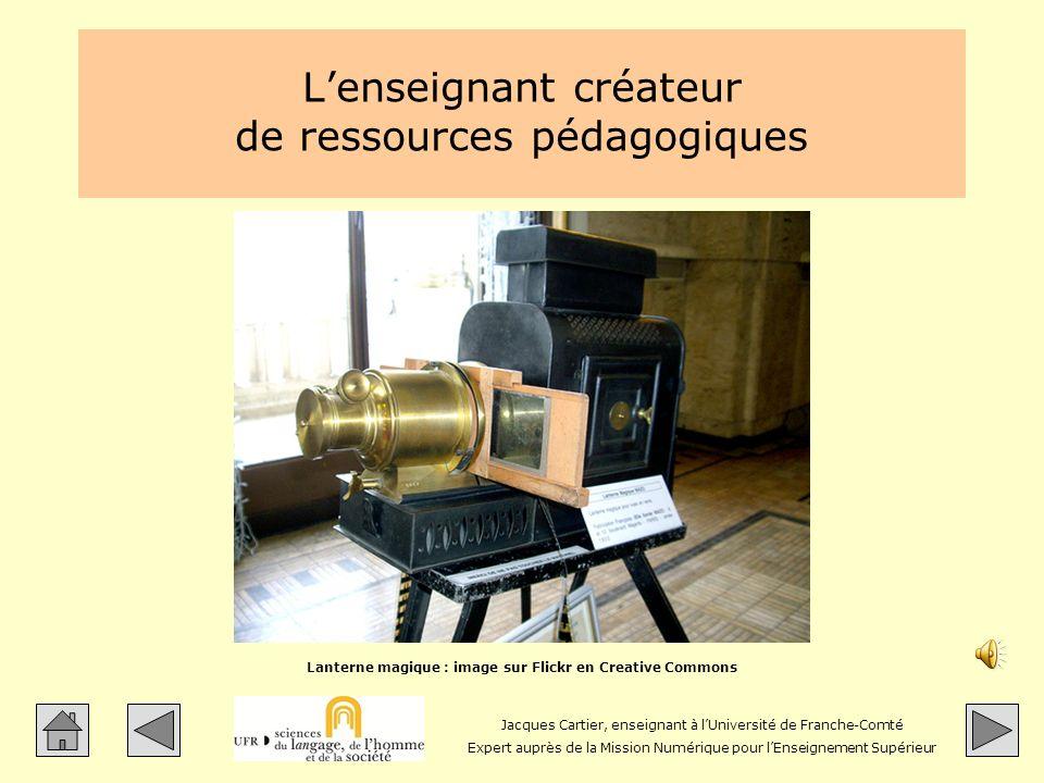 L'enseignant créateur de ressources pédagogiques