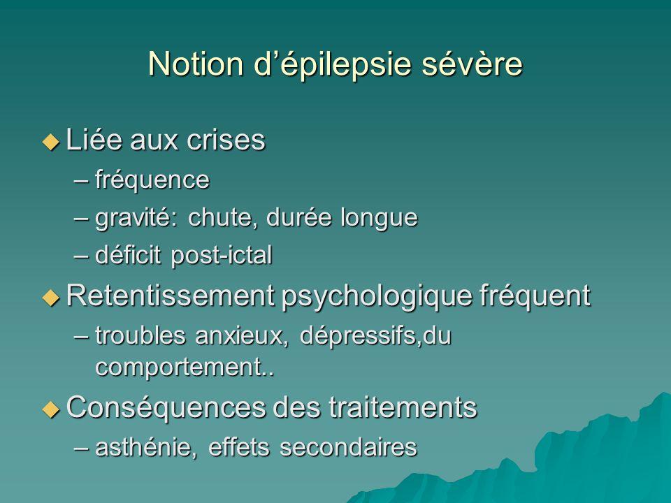 Notion d'épilepsie sévère