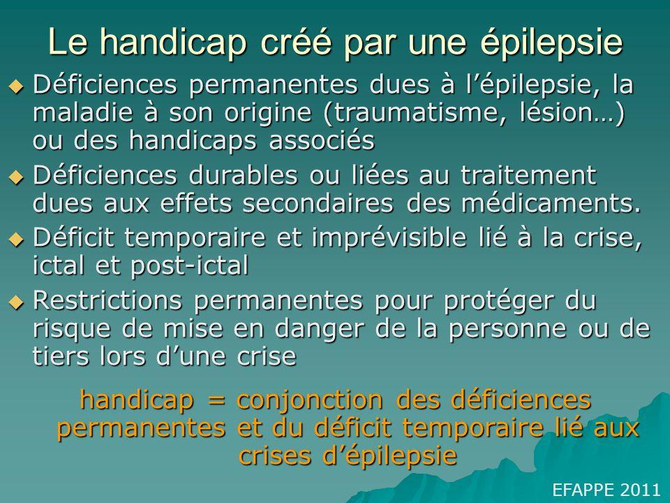 Le handicap créé par une épilepsie
