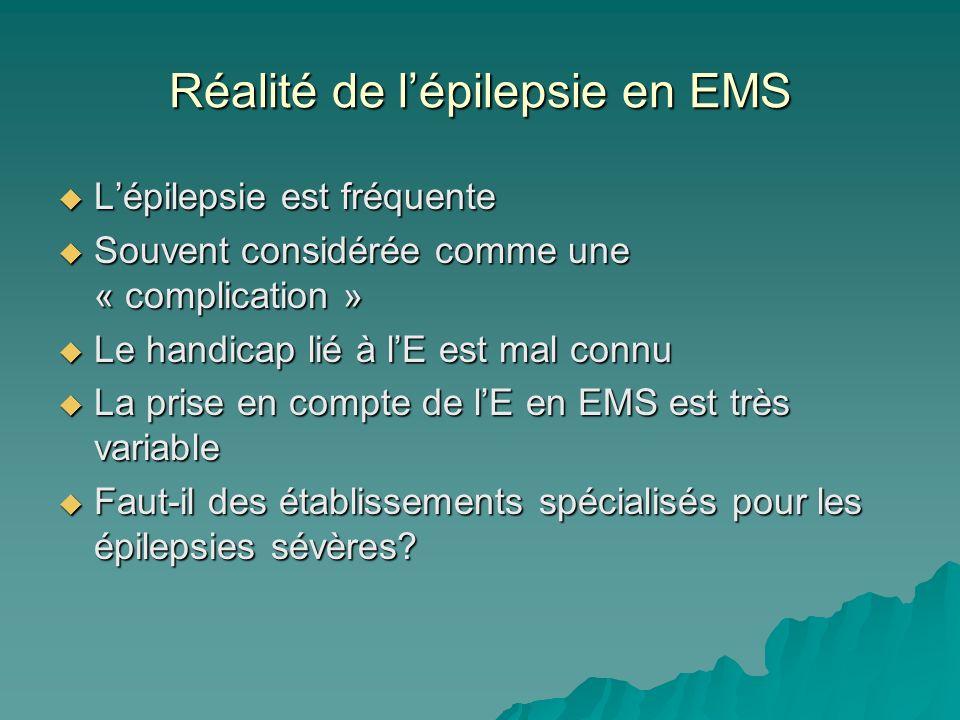 Réalité de l'épilepsie en EMS