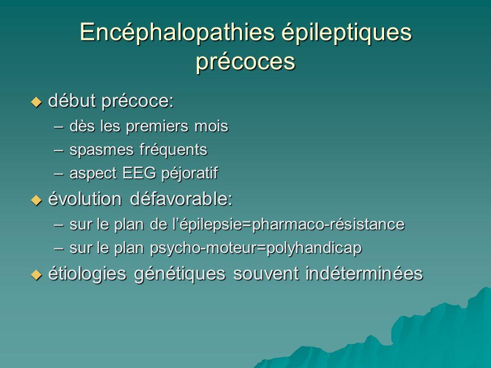 Encéphalopathies épileptiques précoces