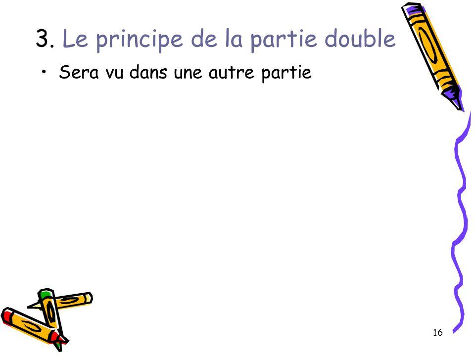 3. Le principe de la partie double