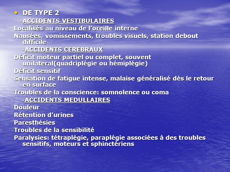 DE TYPE 2 -ACCIDENTS VESTIBULAIRES