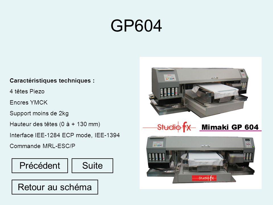 GP604 Précédent Suite Retour au schéma Caractéristiques techniques :