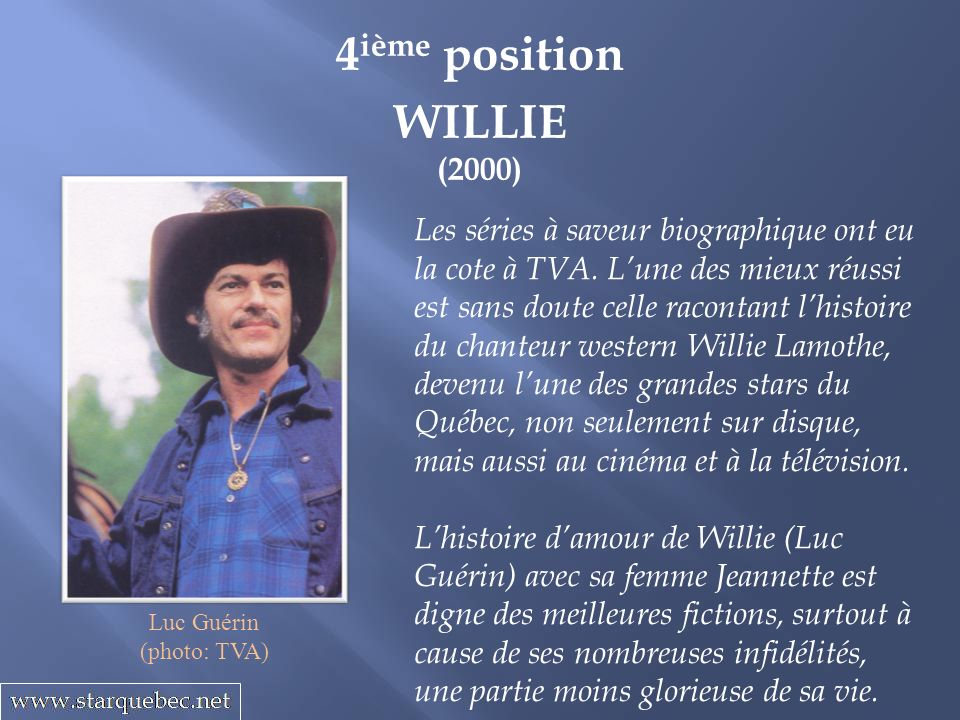 4ième position WILLIE (2000)