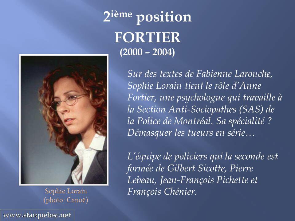 2ième position FORTIER (2000 – 2004)