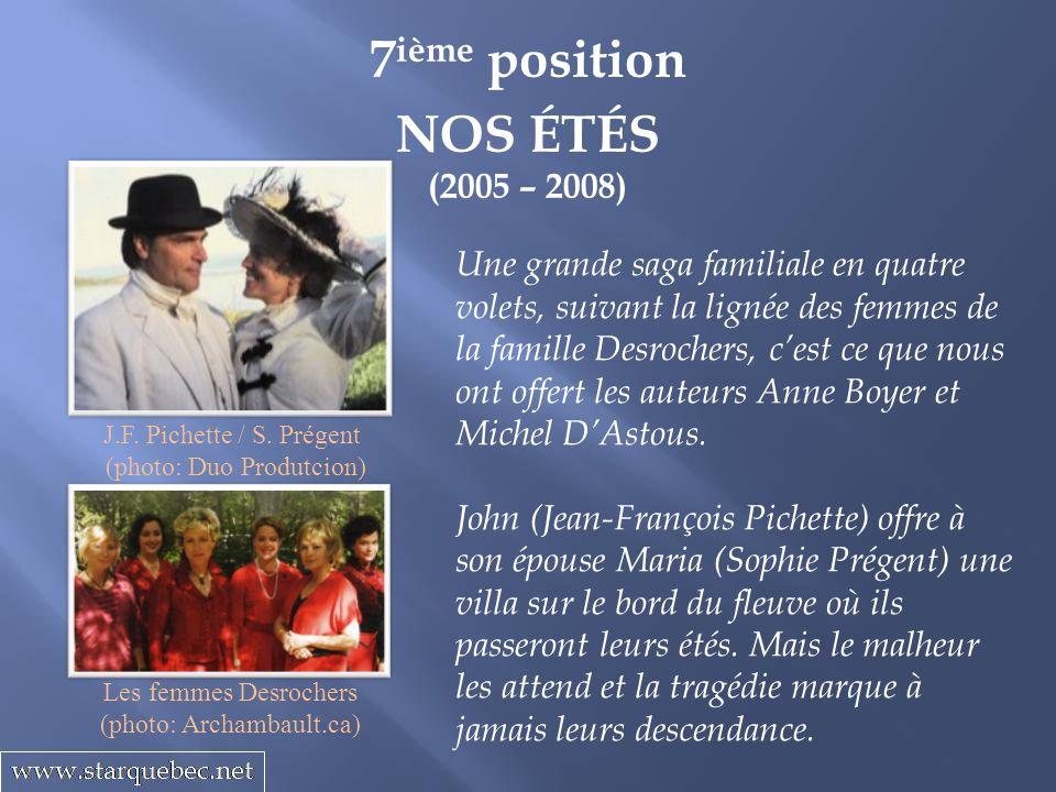 7ième position NOS ÉTÉS (2005 – 2008)