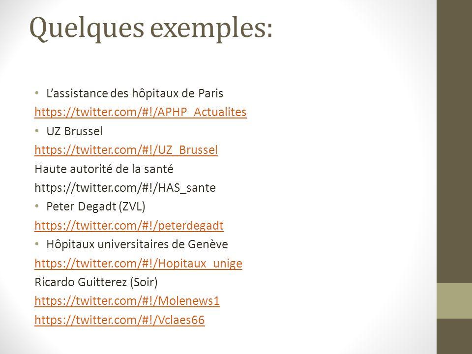 Quelques exemples: L'assistance des hôpitaux de Paris