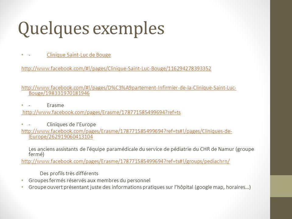 Quelques exemples - Clinique Saint-Luc de Bouge