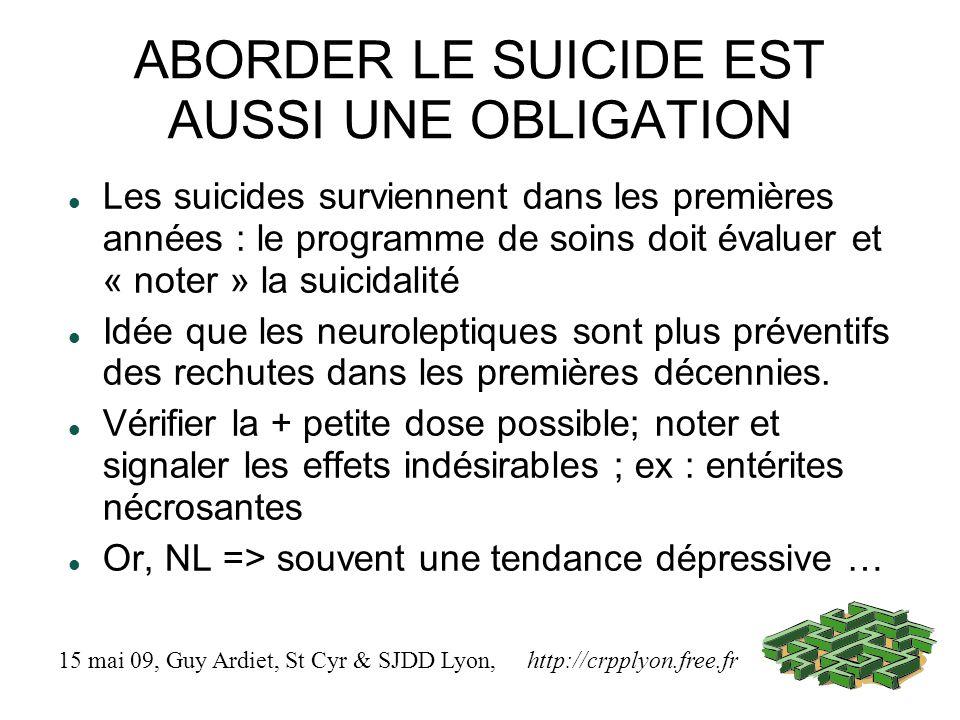 ABORDER LE SUICIDE EST AUSSI UNE OBLIGATION