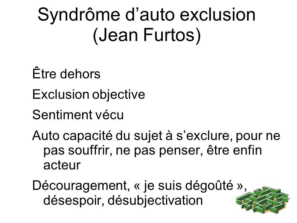 Syndrôme d'auto exclusion (Jean Furtos)