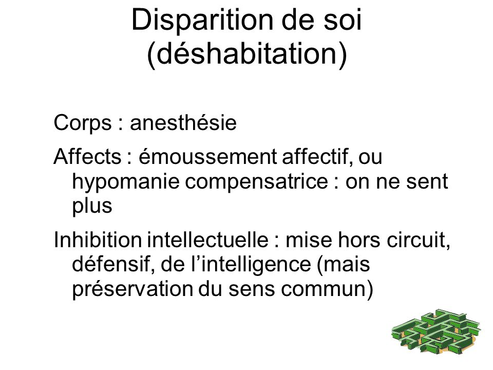 Disparition de soi (déshabitation)