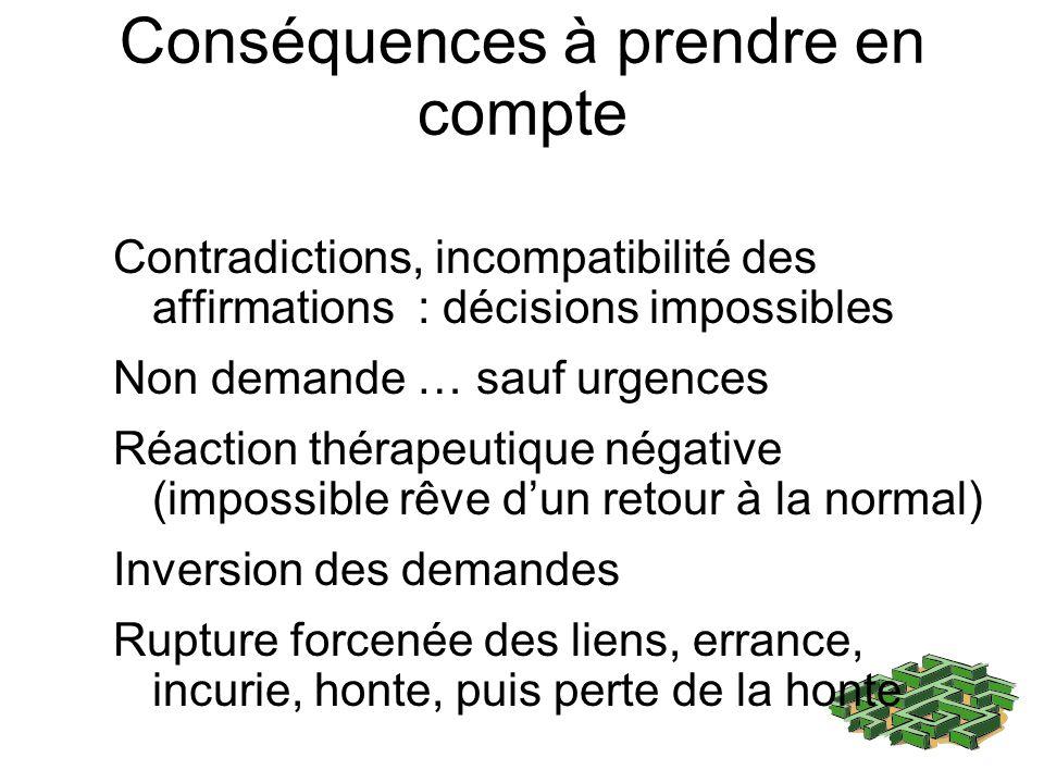 Conséquences à prendre en compte