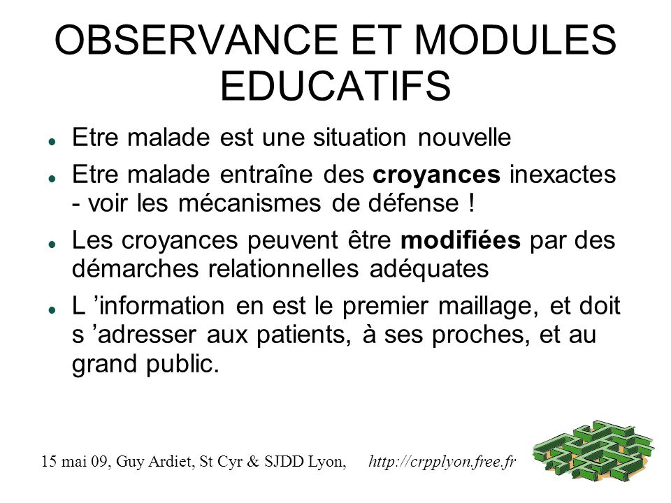 OBSERVANCE ET MODULES EDUCATIFS