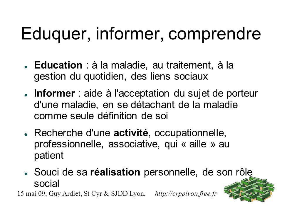 Eduquer, informer, comprendre